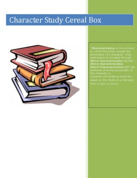 Character Study Cereal Box