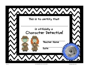 Character Study: Character Detectives Certificate