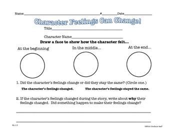 Character Study: Character Feelings Can Change