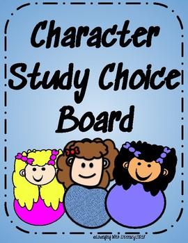 Character Study Choice Board