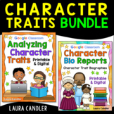 Analyzing Character Traits and Biography Writing Bundle