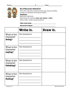 Character Study: Doing, Saying, Thinking, Feeling