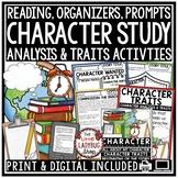 Character Analysis Activities & Character Traits Flip Book