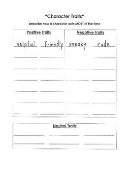 Character Study Kit
