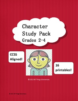Character Study Pack CCSS Traits, Emotions, Actions, and Changes