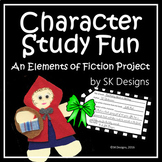 Character Study Project Fun for Learning the Elements of Fiction