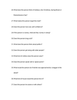 50 Character Study Questions for Monologue Assignments - Drama Education