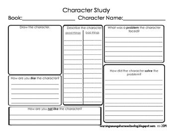 Character Study Sheet