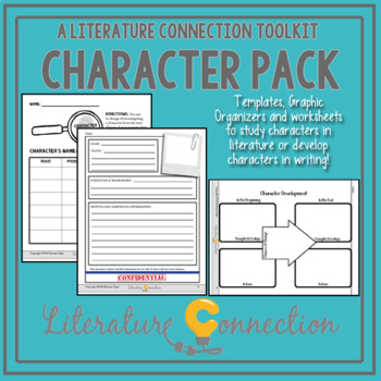 Character Study Tools and Templates by Literature Connection | TpT
