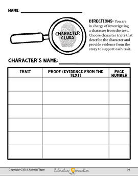Character Study Tools and Templates