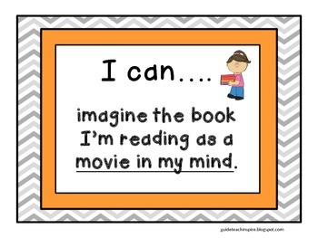 """Character Study Unit """"I Can..."""" Goal Statements and Reflection Tri-fold"""