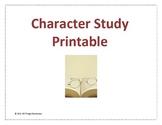 Character Study Versatile Printable