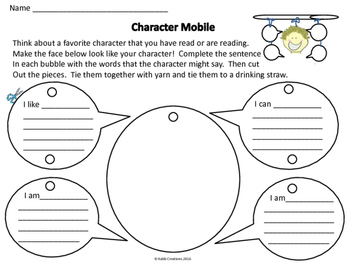 Character Study and Mobile Activity!
