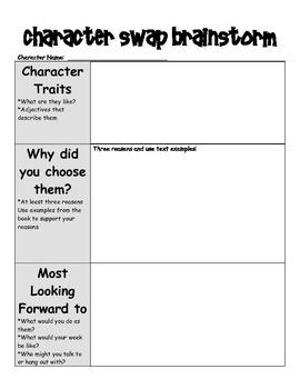 Character Swap Writing Activity