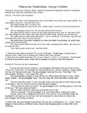 Character Symbolism Worksheet