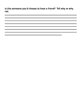 Character T-Chart