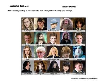 "Character ""Tags"" Lit/Novel Activity: Family Guy, Twilight, Superhero"
