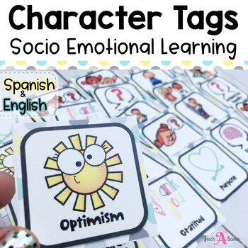 Character Tags (better than brag tags!) | in English & Spanish
