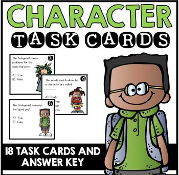 Character Task Cards
