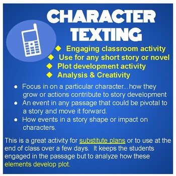 Character Texting Activity  Distance Learning