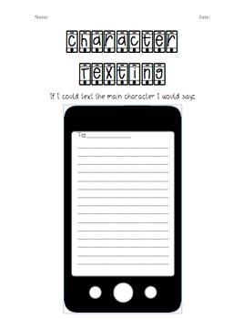 Character Texting Worksheet