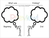 Character Thought Bubble Graphic Organizer ENGLISH and SPANISH