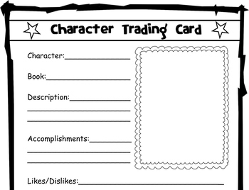 Character Trading Card