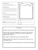 Character Trading Card - Reading Groups