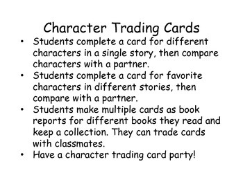 Character Trading Cards