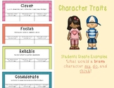 Character Traits - Activity (What Would a Character Say, D