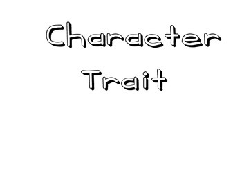Character Trait Adjectives - Large Wall Chart