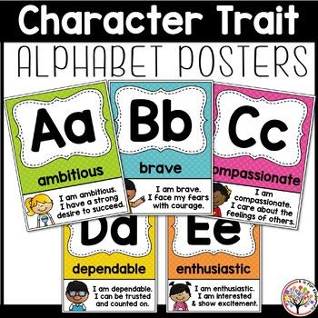 Character Trait Alphabet Posters