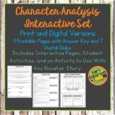 Character Trait Analysis Guided Notes Digital and Print