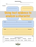 Character Trait Analysis using Text Evidence