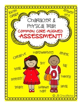 Character Trait Assessment (common core aligned 3rd, 4th,
