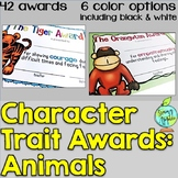 End of the Year Character Traits Awards (Animals)
