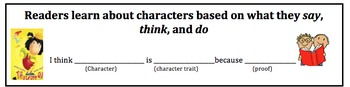 Character Trait Bookmark