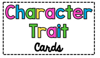 Character Trait Cards