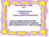 Character Trait Cards and Class Activity/Lesson