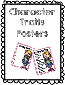 Character Trait Characteristics Posters