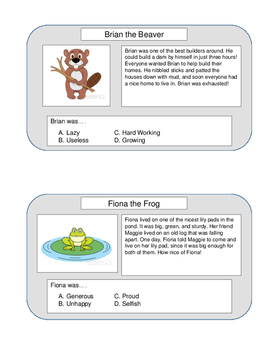 Character Trait Comprehension Questions