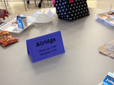 Character Trait Conversation Starters on Table Tents