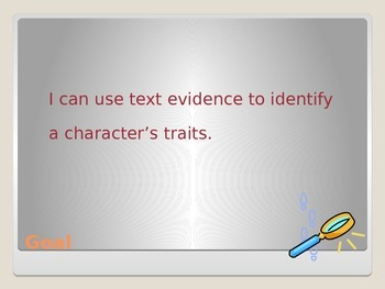 Character Trait Detectives- Text Evidence- Test Prep PPT