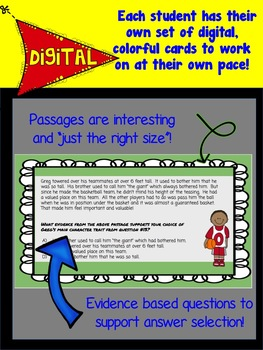 Character Trait Digital Task Cards (for Google Drive)