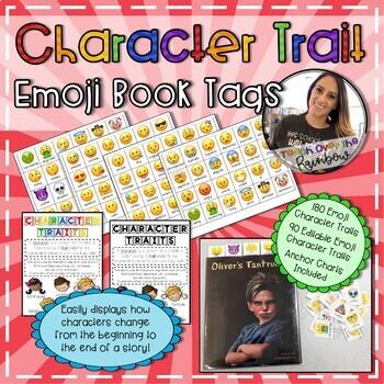 Character Trait Emoji Book Tags