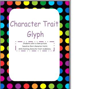 First Day of School Character Trait Glyph Reading