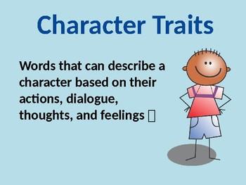 Character Trait Graphic Organizer (EDITABLE)
