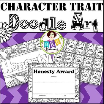 Character Trait - Honesty - Doodle Coloring