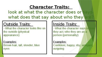 Character Trait Lesson Plan