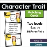 Character Trait Matching Cards